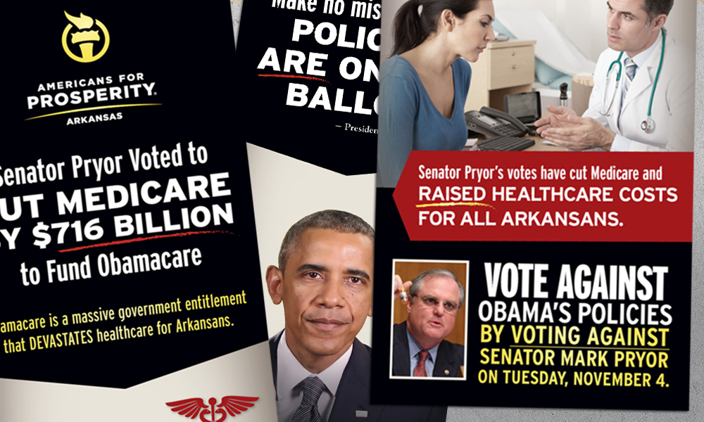 Innovative Politics designed direct mail for Americans for Prosperity-Arkansas