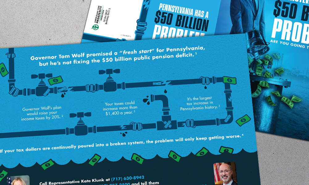 Innovative Politics designed direct mail for Americans for Prosperity-Pennsylvania