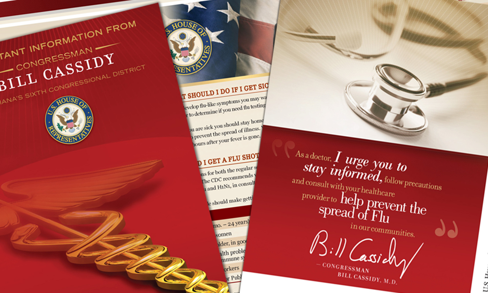 Innovative Politics designed informative mail pieces for Congressman Bill Cassidy