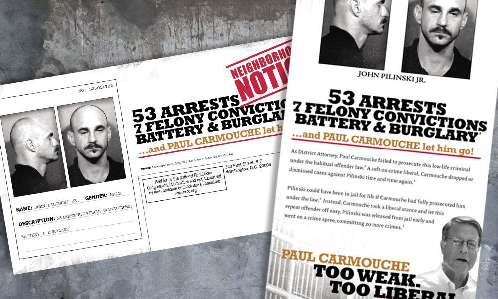 Innovative Politics designed direct mail for the National Republican Congressional Committee