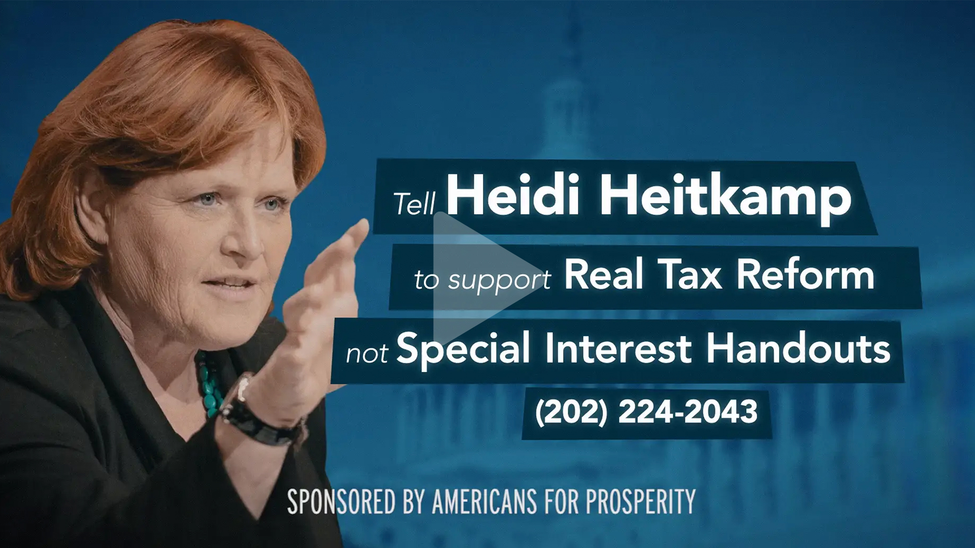 Video- Heitkamp turned her back