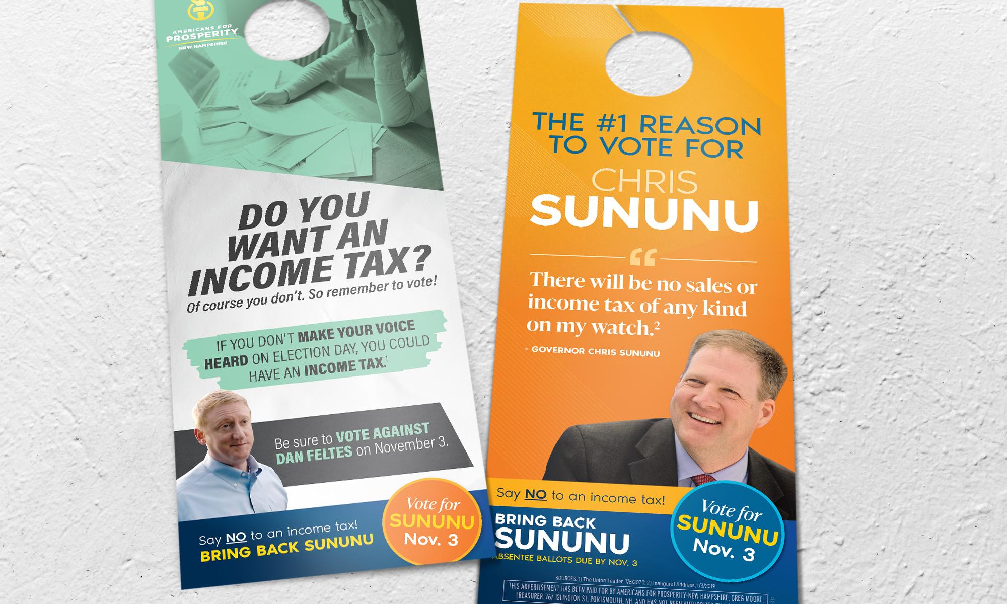 Americans for Prosperity-New Hampshire doorhangers