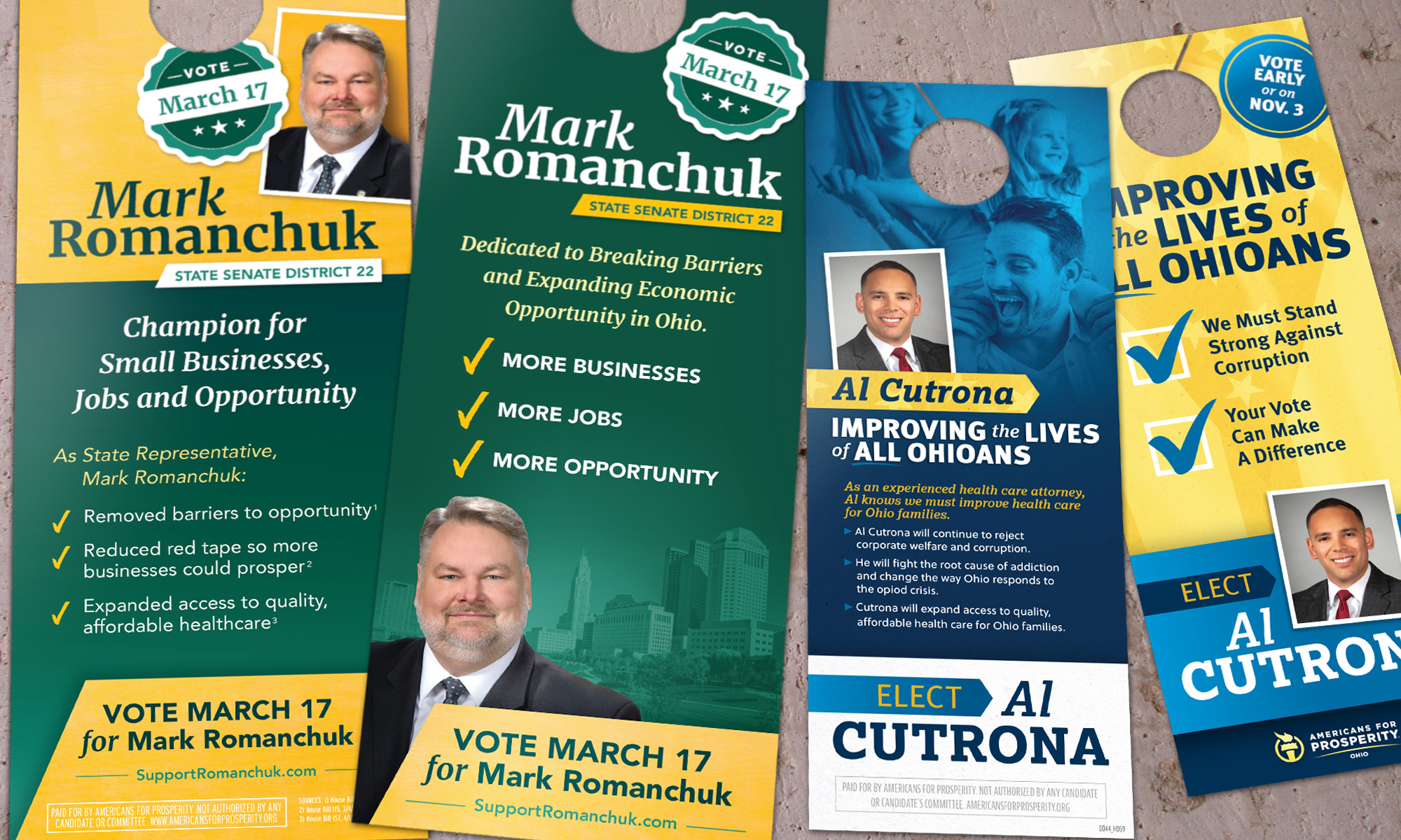 Americans for Prosperity-Ohio doorhangers