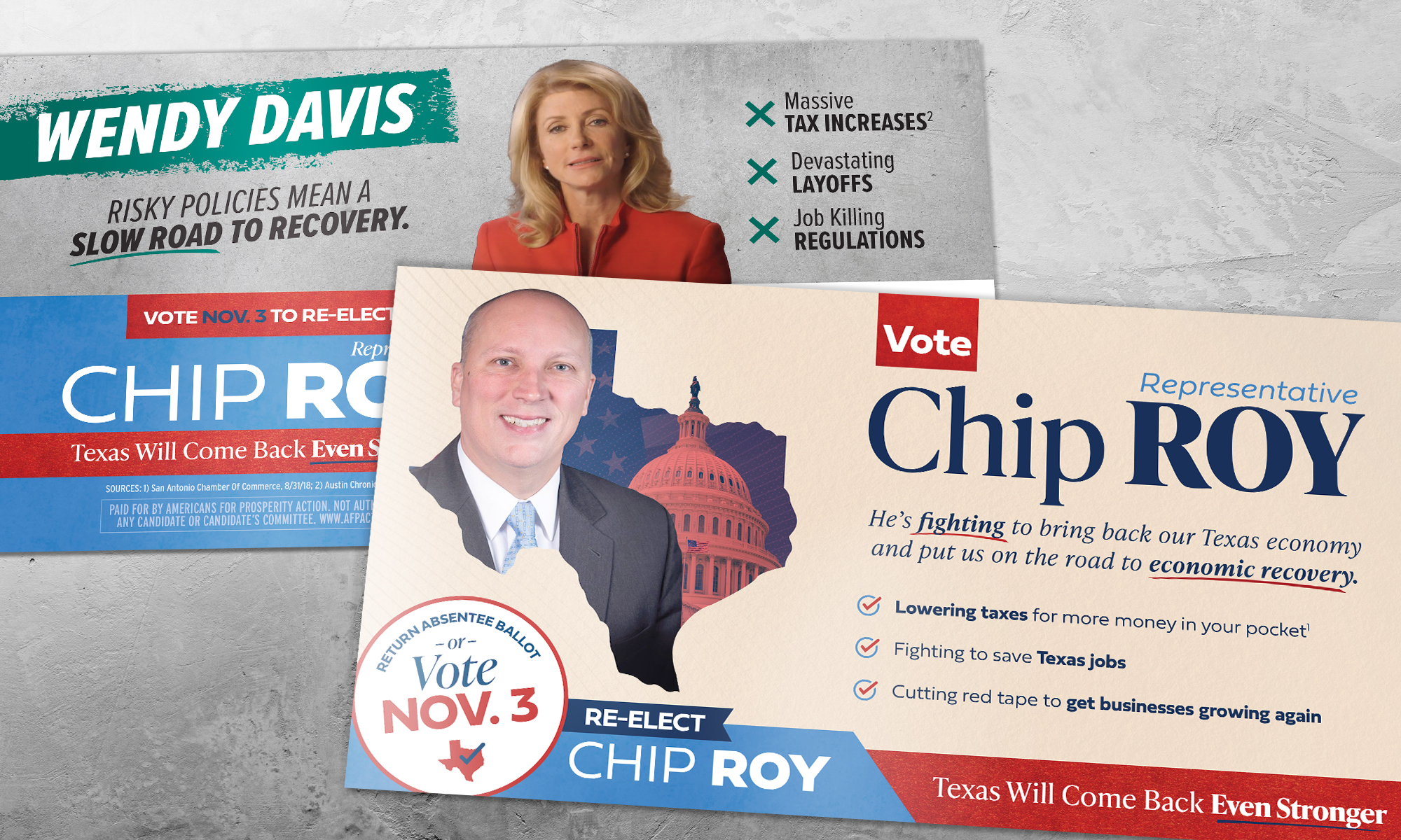 Americans for Prosperity-Texas direct mail for Chip Roy